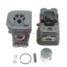 Cilindro komplektas su stūmokliu Husqvarna, išmatavimai cilindro mm 38, modeliams: 136,137