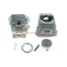 Cilindro komplektas su stūmokliu Oleomac, išmatavimai cilindro mm 45, modeliams: 952