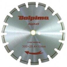 Deimantinis segmentinis pjovimo diskas asfaltui Laser 300x25,4/20mm 10x3,0mm