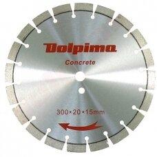 Deimantinis segmentinis pjovimo diskas betonui Laser 300x20mm 15x3,0mm