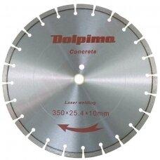 Deimantinis segmentinis pjovimo diskas betonui Laser 350x25,4/20mm 10x3,2mm