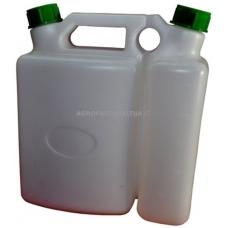 Kanistras kurui 3,5 litrų + alyvos 1,5 litrų