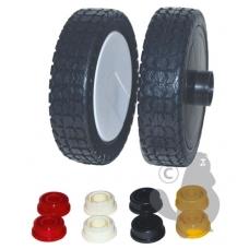 Ratukas universalus plastmasinis 200,00 x 52,00 mm. Ašis 8, 10, 12, ir 12,70 mm