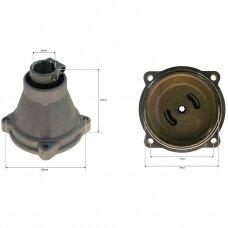 Sankabos korpusas su būgneliu kinietiškoms žoliapjovėms 26,00 mm x 7T septyniakampė žvaigždutė 100,00 mm x 78,00 mm