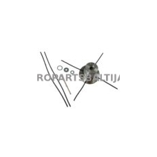 Universali aliuminė galva žoliapjovėms, skersmuo 55mm, valo storis 3,3-4,7 mm