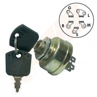 Užvedimo spynelė Stiga 3 pozicijų 5 kontaktų 118450065/1, 18450065/1 Estate 6102H, ESTATE 6102 HW, EL63-EL63M ir kitiems