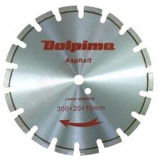 Deimantinis segmentinis pjovimo diskas asfaltui Laser 300x20mm 10x3,0mm